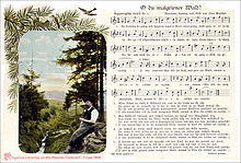 Erzgebirgische Weihnachtslieder.Liedpostkarte Wikipedia