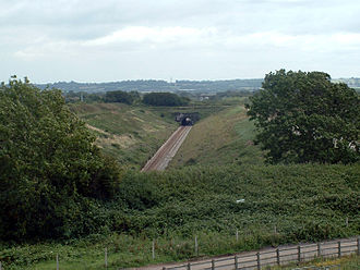 Severn Tunnel - The approach to the tunnel from the English side.