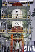 06 pslv-c42 second liquid stage at stage preparation facility.jpg