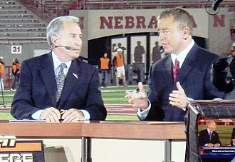 Kirk Herbstreit - Lee Corso and Herbstreit discuss college football on an evening update of ESPN College Gameday.