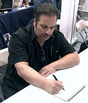 Jimmy Palmiotti - Palmiotti sketching at the New York Comic Con, October 10, 2010.