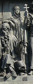 Княгиня Ольга на Памятнике «1000-летие России» в Великом Новгороде