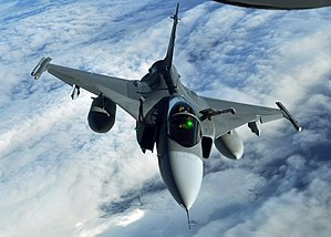 Saab JAS 39 Gripen - A Swedish Gripen during an exercise, 2013