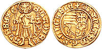 A gold Florin of King Mátyás (Matthias).