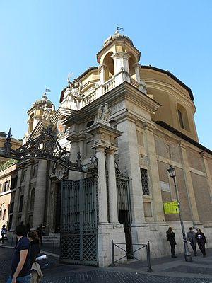 Sant'Anna dei Palafrenieri - View of the Church and the Saint Anne's Gate (Porta Sant'Anna)