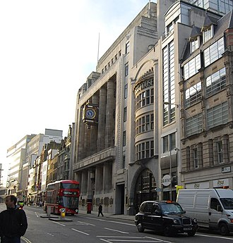 Fleet Street - The former offices of the Daily Telegraph Building at No. 135–141