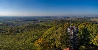 Steigerwald low mountain range in Bavaria in Germany