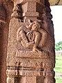 15th-16th century Achyutaraya temple yoga asana 7, Hampi Hindu monuments Karnataka.jpg