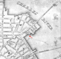 1829 Leverett St jail Boston map BPL 12254.png