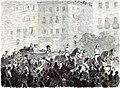 1872-07-24, La Ilustración Española y Americana, Atentado contra los reyes de España en la noche del 18 b (cropped) Demostraciones del pueblo en la tarde del 19, cuando salieron á paseo SS. MM.jpg