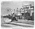 1877-09-22, La Ilustración Española y Americana, Salamanca, Bendición de máquinas y material móvil para el nuevo ferro-carril, en presencia del rey, el 9 del actual.jpg