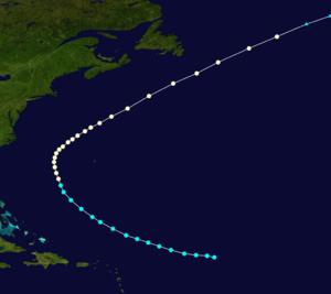 1883 Atlantic hurricane season - Image: 1883 Atlantic hurricane 1 track