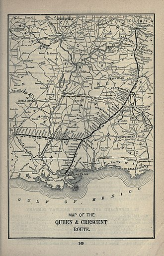 Queen and Crescent Route - 1891 map