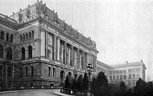 Technical University of Berlin - Northern front of the Königlich Technische Hochschule Charlottenburg (Royal Technical School Charlottenburg) in 1895.