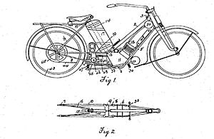 The Scott Motorcycle Company - 1908 Scott Motorcycle from patent GB190816564 cc