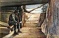 1917 - Ion Barbulescu (B Arg) - Soldat citind scrisoare în adapost la Marasesti Marele Razboi.jpg