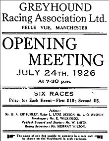 Image result for 1926—First Track in Manchester