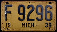 1939 MICHIGAN LICENSE PLATE.jpg