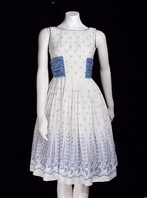 1950s Vintage Cotton Swing Dress