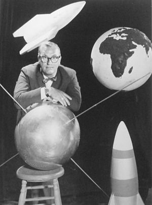 Wide Wide World - Publicity photo from the September 15, 1957 show, The Challenge of Space.