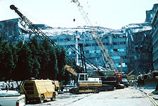 1985 Mexico Earthquake - Ministry of Telecommunications and Transportation building.jpg