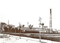 Hauptbahnhofstraße nach 1896, mit Werksbauten Kugelfischers