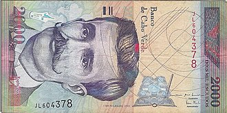 Eugénio Tavares - Eugénio Tavares on a Cape Verdean $2000 escudo note issued between 2007 and 2014