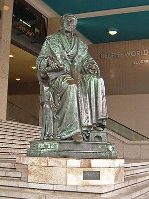 Gijsbert Karel van Hogendorp - Gijsbert Karel van Hogendorp in front of the Beurs-WTC building in Rotterdam.