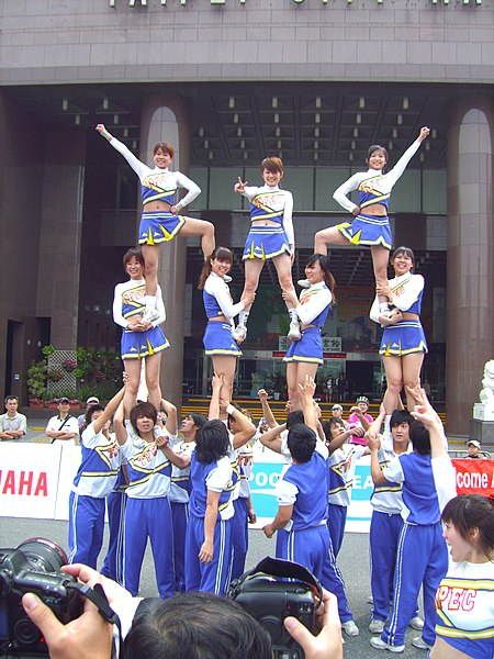 Taiwanese cheerleaders