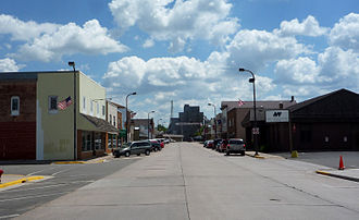 Abbotsford, Wisconsin - First Street, downtown Abbotsford