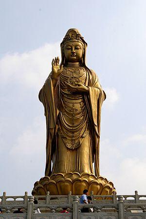 Tieguanyin - Statue of Guanyin at Mount Putuo, Zhejiang, China