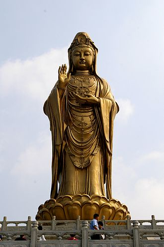 Tieguanyin - Statue of Guanyin at Mount Putuo, Zhejiang, China