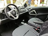 2010 Smart ForTwo Passion Coupe interior 1.JPG
