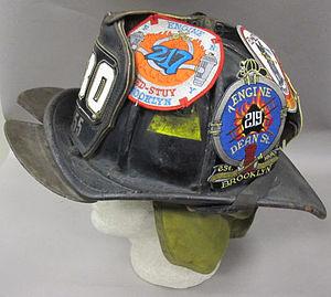 2011-191-2 Helmet, Fireman, Fire Department New York, Side.jpg