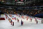 Парад флагов стран-участниц чемпионата на церемонии открытия турнира