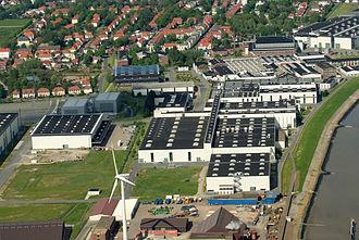 Premium AEROTEC - Aerial view of Premium Aerotec in Nordenham (May 2012)