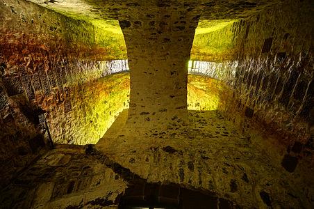 Inside the Fort de Château-Lambert: details of architecture.