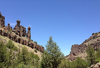 Jarbidge River - Hoodoos in the Jarbidge River Canyon north of Jarbidge, Nevada