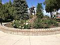 2014-09-21 14 44 54 Circle garden in the Kelly Ostler Horizon Hospice Memorial Rose Garden in the main city park of Elko, Nevada.JPG