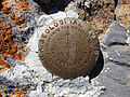 2014-10-13 12 28 46 United States Geological Survey reference mark on the summit of Bunker Hill, Nevada.JPG
