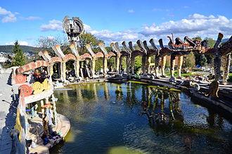 Bruno Weber Park - water garden