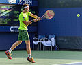2015 US Open Tennis - Qualies - Guilherme Clezar (BRA) def. Nicolas Almagro (ESP) (12) (20529711164).jpg
