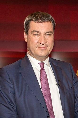 Cabinet Söder II - Image: 2016 04 18 Markus Söder hart aber fair 4892