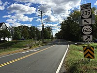 2016-10-22 14 38 00 View south along Virginia State Route 235 (Mount Vernon Highway) at Old Mount Vernon Road (Virginia State Secondary Route 623) in Mount Vernon, Fairfax County, Virginia.jpg
