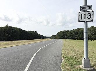 U.S. Route 113 - View south along US 113 near Pocomoke City