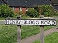 2018-05-11 Street name sign, Henry Blogg Road, Cromer.JPG