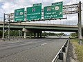 2018-08-26 17 28 34 View north along Interstate 295 and U.S. Route 130 at Exit 14 (Gloucester County Route 684, To New Jersey State Route 44, Repaupo, Gibbstown) in Logan Township, Gloucester County, New Jersey.jpg
