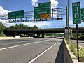 2019-05-27 16 23 47 View south along the outer loop of the Capital Beltway (Interstate 495) at Exit 40 (Cabin John Parkway, Glen Echo) on the edge of Bethesda and Potomac in Montgomery County, Maryland.jpg