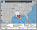 2019-07-11 AL022019 Tropical Storm Barry 5day cone no line and wind.png
