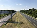 2019-07-28 17 17 12 View north along Interstate 695 (Baltimore Beltway) from the overpass for Beachwood Road in Dundalk, Baltimore County, Maryland.jpg